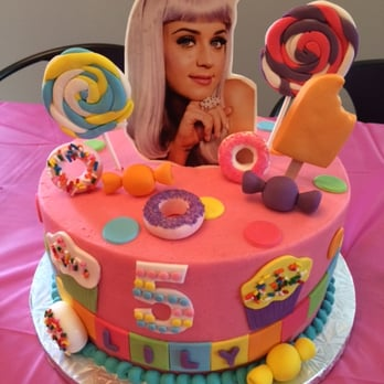 Enjoyable Custom Made Katy Perry Birthday Cake For My 5 Year Olds Birthday Personalised Birthday Cards Veneteletsinfo
