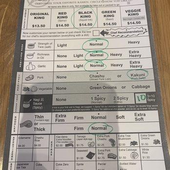 ramen nagi order form  Order form - Yelp