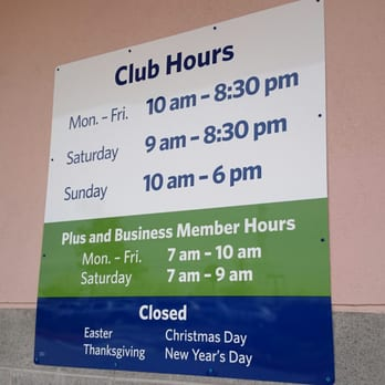 What Time Does Sams Club Open On Sunday >> Sam S Club Hours Yelp