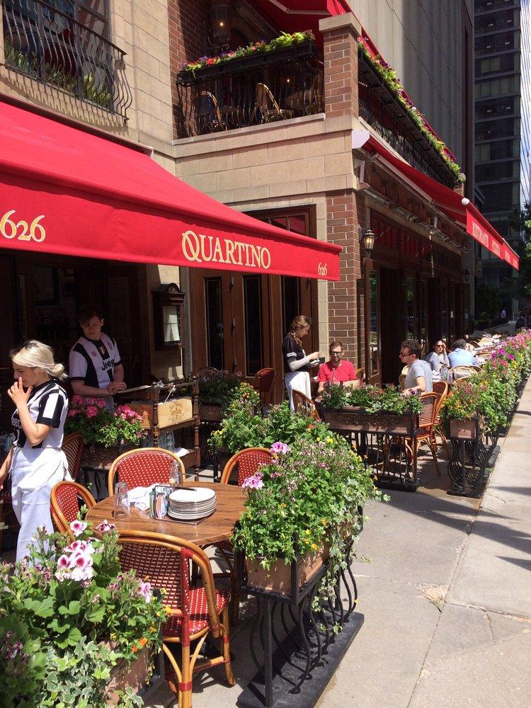 Photo of Quartino Ristorante - Chicago, IL, United States. Outside seating