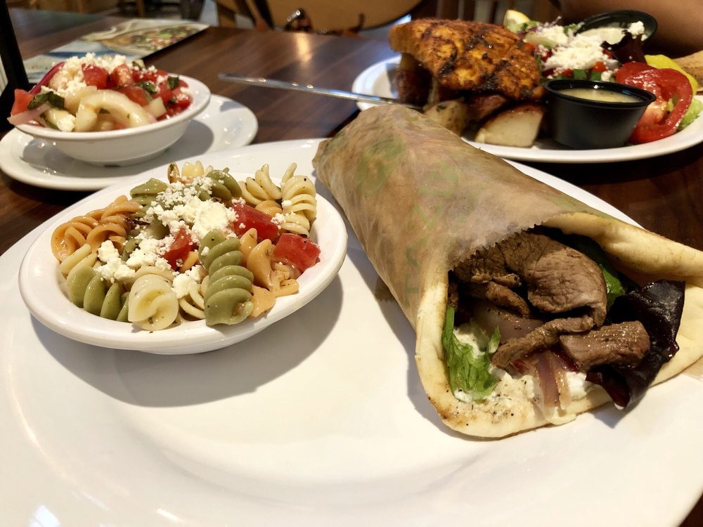 Lamb Gyro With Pasta Salad Darn Good Pasta Salad Better