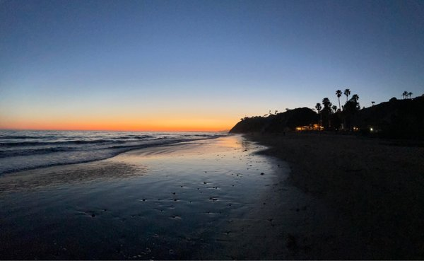 Photo of Arroyo Burro Beach - Santa Barbara, CA, US. Beautiful northern sunset and evening views