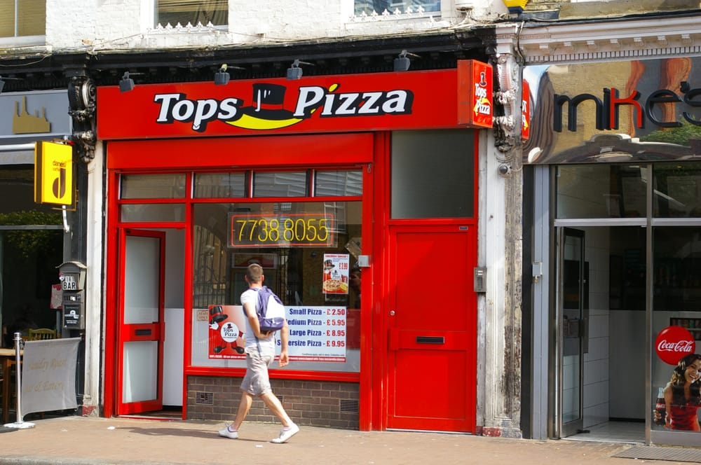 Tops Pizza Pizza 163 Battersea Park Road Nine Elms