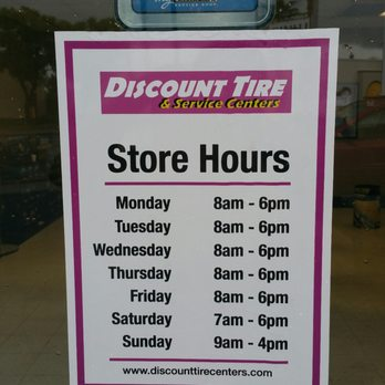 Discount Tire Hours Sunday >> Store Hours Yelp