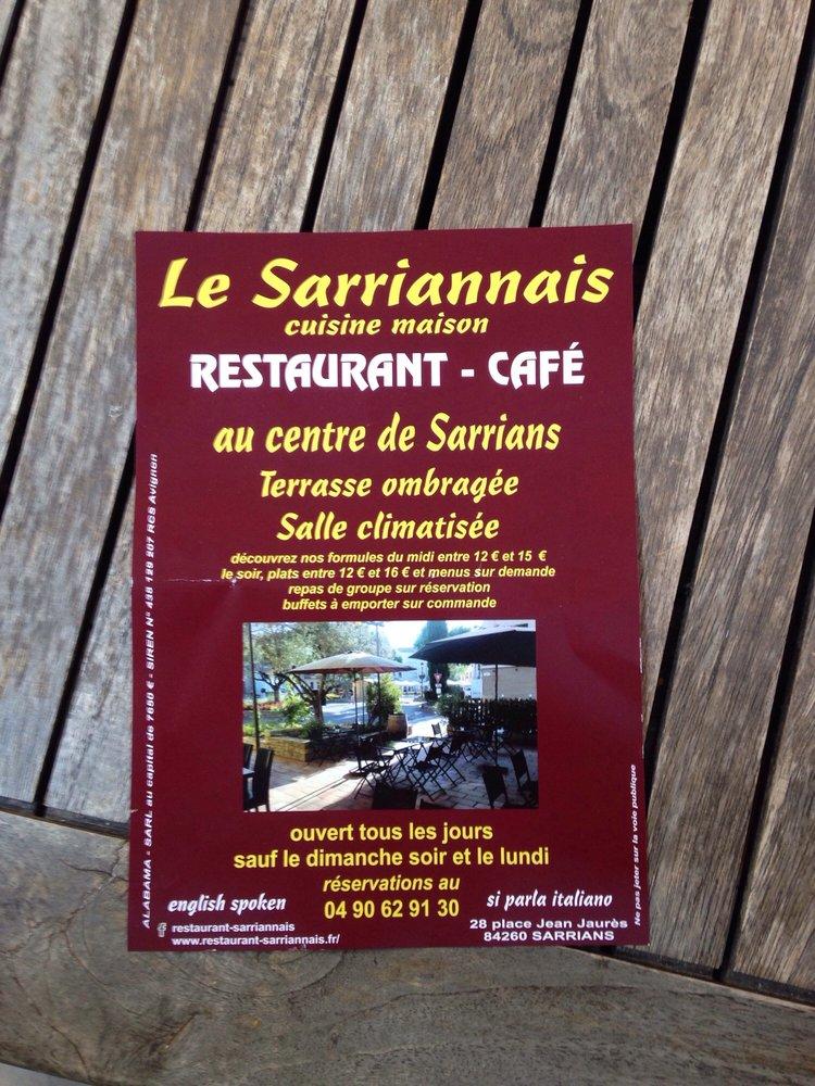 Le Sarriannais - Französisch - 28 place Jean Jaurès ...