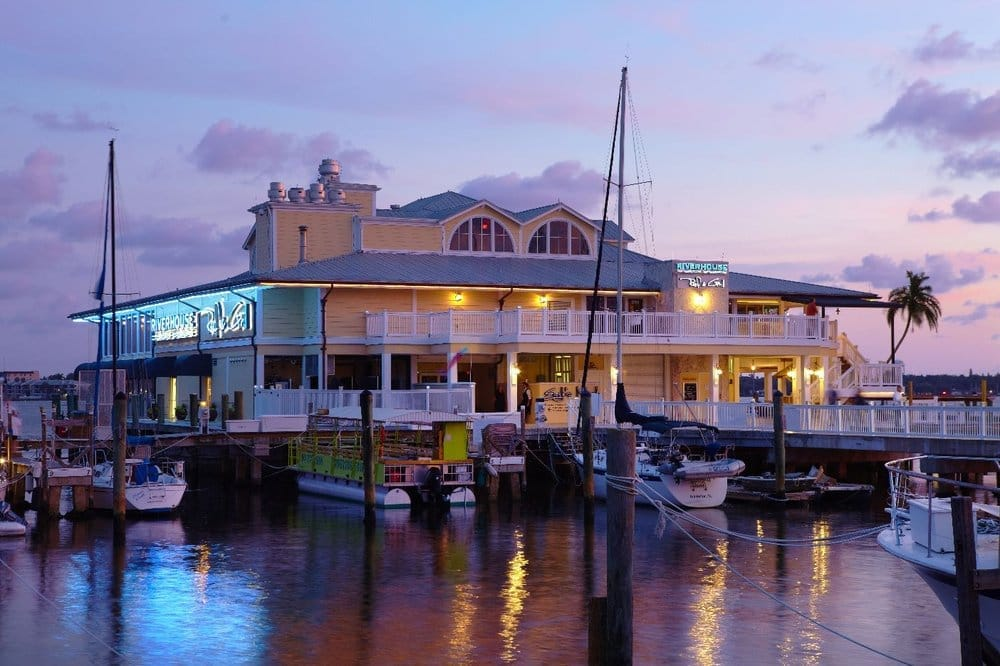 Photo of Riverhouse Waterfront Restaurant - Palmetto, FL, United States. Riverhouse at Night