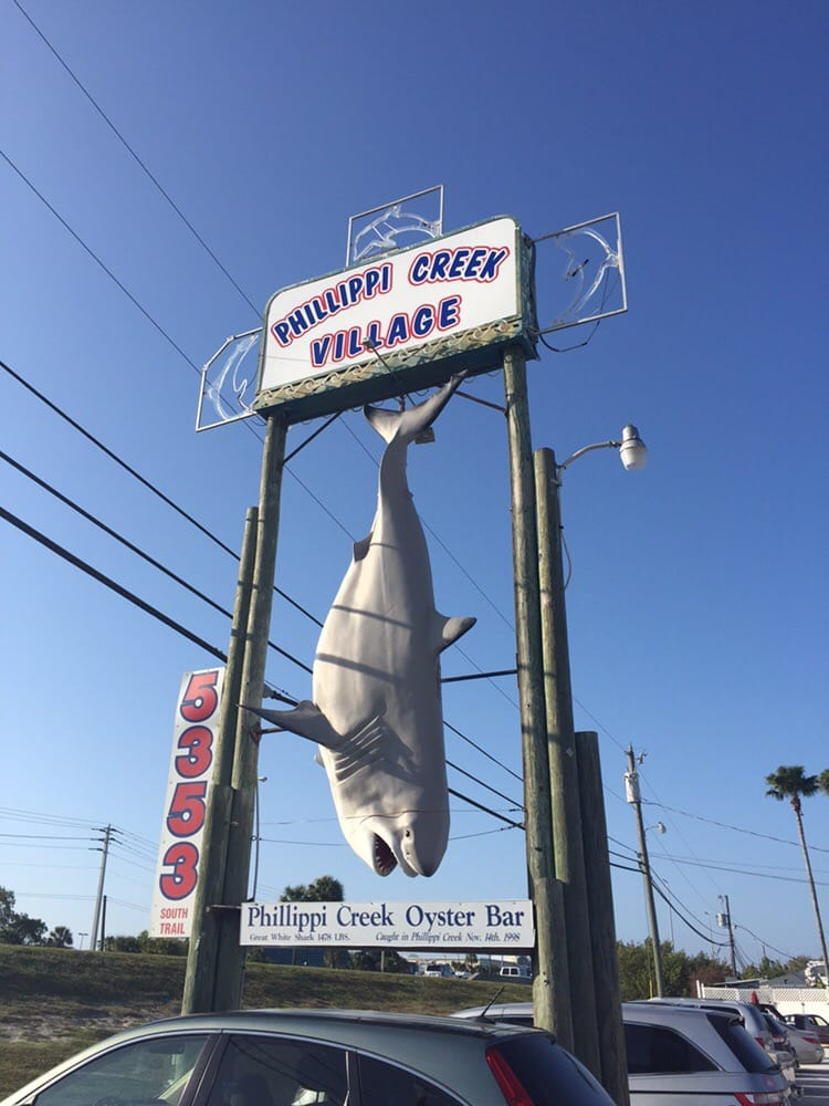 Photo of Phillippi Creek Oyster Bar - Sarasota, FL, United States. This is how you know your at the right place. They actually caught a shark this big in the phillipe creek.