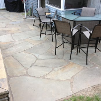 This Is An Irregular Blue Stone Patio Dry Laid In Stone Dust