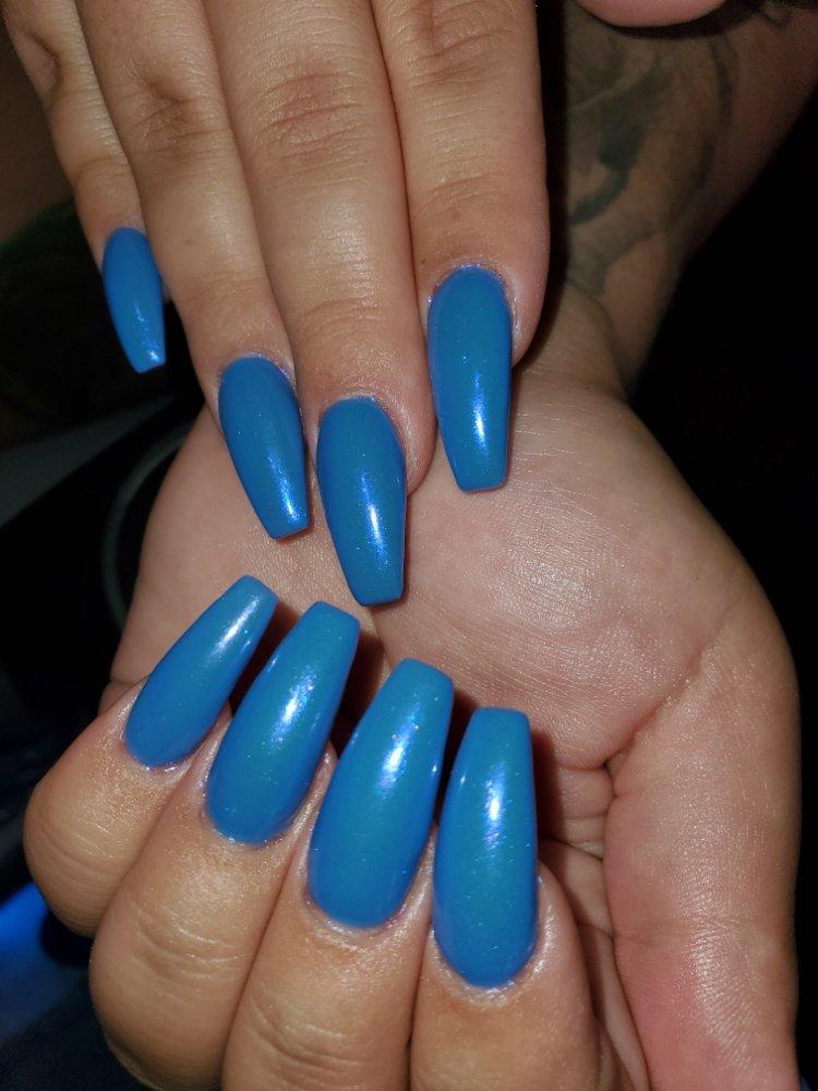 Photo of Aroma Nail Spa - Las Vegas, NV, United States. Unicorn blue nail