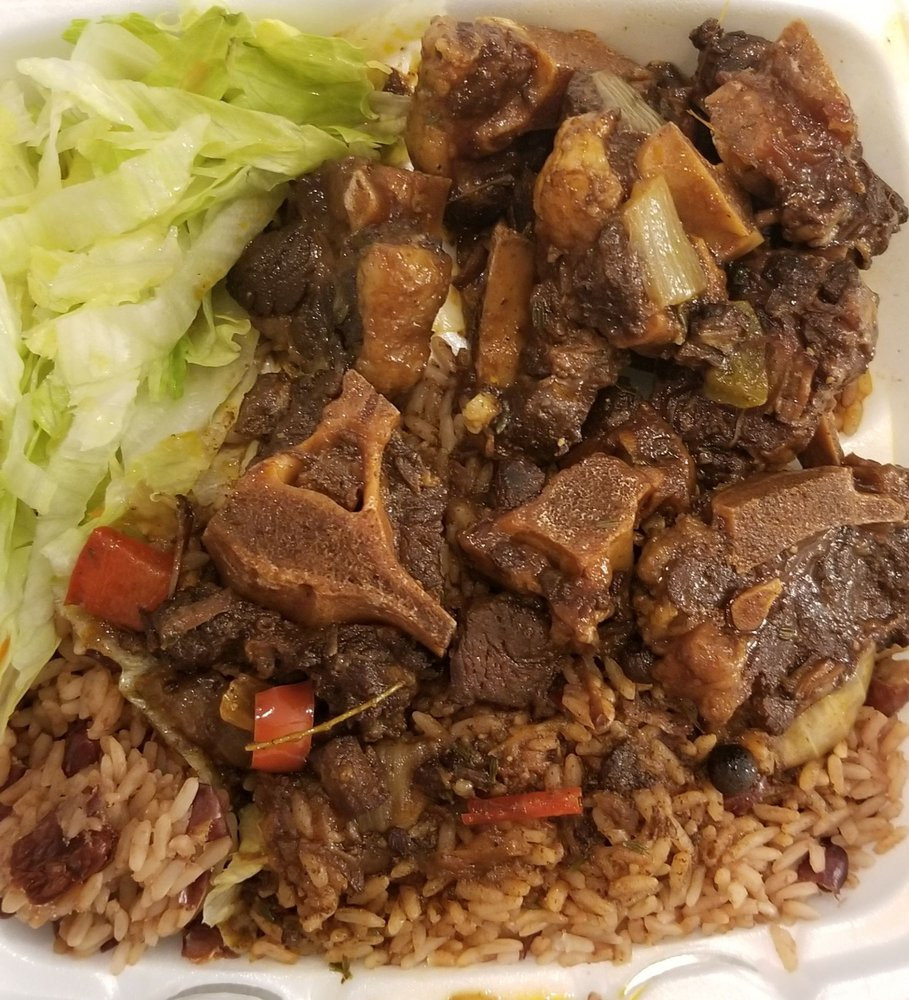 oxtail and rice and peas  yelp