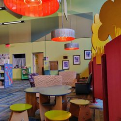Photo of Smith Public Library - Wylie, TX, United States. Seating In Kids' Area.