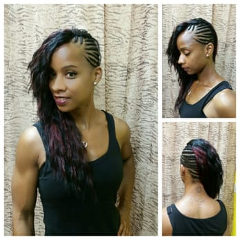 Weave installation with side braid. , Yelp