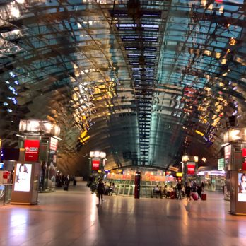 Photo of Frankfurt am Main Flughafen Fernbahnhof - Frankfurt, Hessen, Germany. Way cool at night