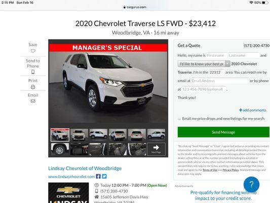 Lindsay Chevrolet Of Woodbridge 15605 Jefferson Davis Hwy Woodbridge Va Auto Dealers Mapquest