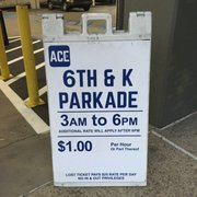 Photo of Ace Parking - 6th & K Parkade - San Diego, CA, United States. Saturday Posted Rate
