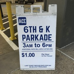 Photo of Ace Parking - 6th & K Parkade - San Diego, CA, US. Saturday Posted Rate
