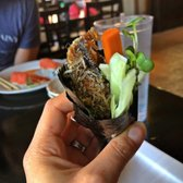 Photo of Hanami Sushi - Sherman Oaks, CA, United States. Salmon skin Handroll, no rice