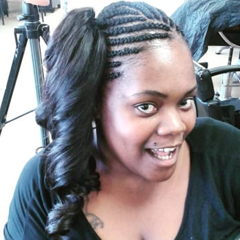 Braids/ponytail/WEAVES/Press\u0026curl , Yelp