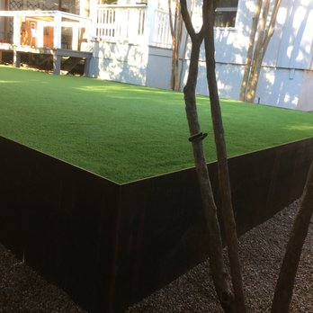 Austin Modern Landscaping Ideas With Artificial Turf And Corten