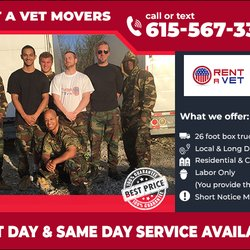 Rent A Vet Movers 32 Photos Movers 1301 Dickerson Pike Goodlettsville Tn Phone Number