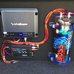 Car stereo capacitor
