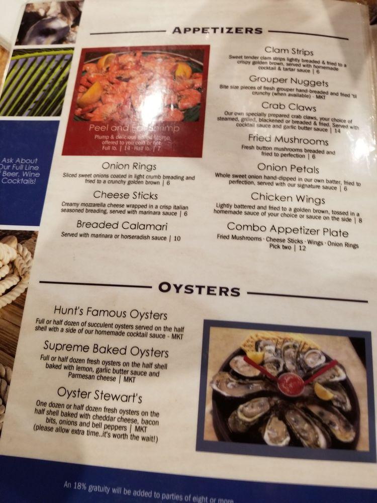Hunts Seafood Restaurant Oyster Bar