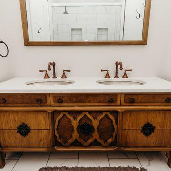 Antique Dresser Made Into Bathroom