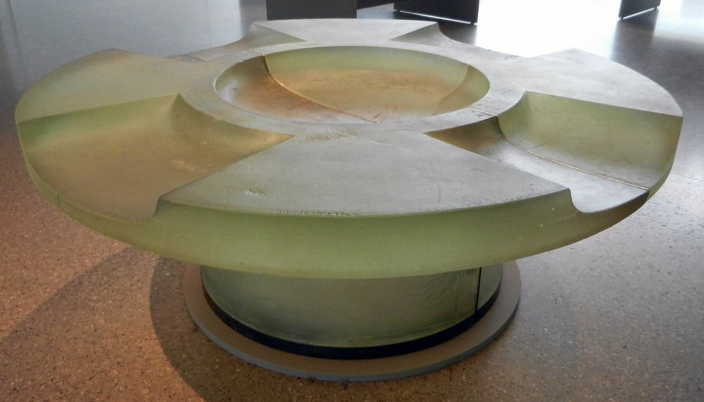 Photo of Toledo Museum of Art - Toledo, OH, United States. Howard Ben Tre; Bench for Claude Monod 2; cast glass, brass; 1990-92