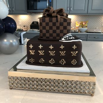 Admirable Louis Vuitton Birthday Cake Made By A Piece Of Cake Desserts Birthday Cards Printable Benkemecafe Filternl