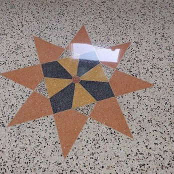 1941 Same Vintage Mosaic Terrazzo Floor After Restored 75yrs