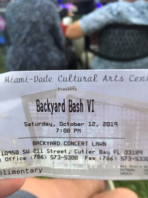 Photo of South Miami - Dade Cultural Arts Center - Cutler Bay, FL, US. Concert on the back lawn