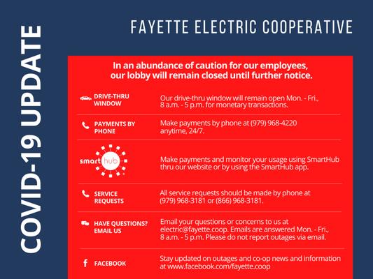 Fayette Electric Cooperative Inc 357 N Washington St La Grange Tx Federal Government Contractors Mapquest