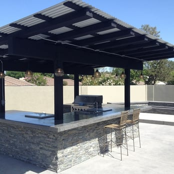 New Patio Cover Over Bbq With Re Sawn