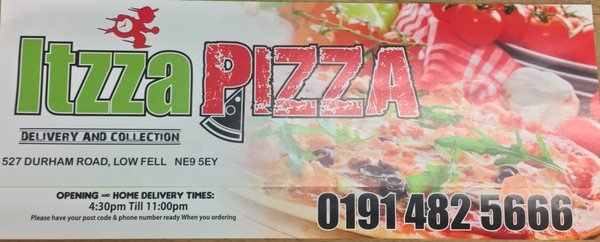 Itzza Pizza Pizza 527 Durham Road Gateshead Tyne And