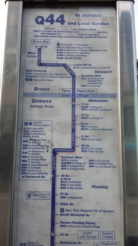 Q44 Bus - 20 fotos y 16 reseñas - Transporte público ... Q Bus Map on q17 bus map, q83 bus map, q20a bus map, q76 bus map, q104 bus map, q112 bus map, q55 bus map, bx21 bus map, q37 bus map, q102 bus map, q20 bus map, bx bus map, nycta bus map, b82 bus map, q84 bus map, q46 bus map, q64 bus map, q58 bus map, q47 bus route map, new york bus route map,