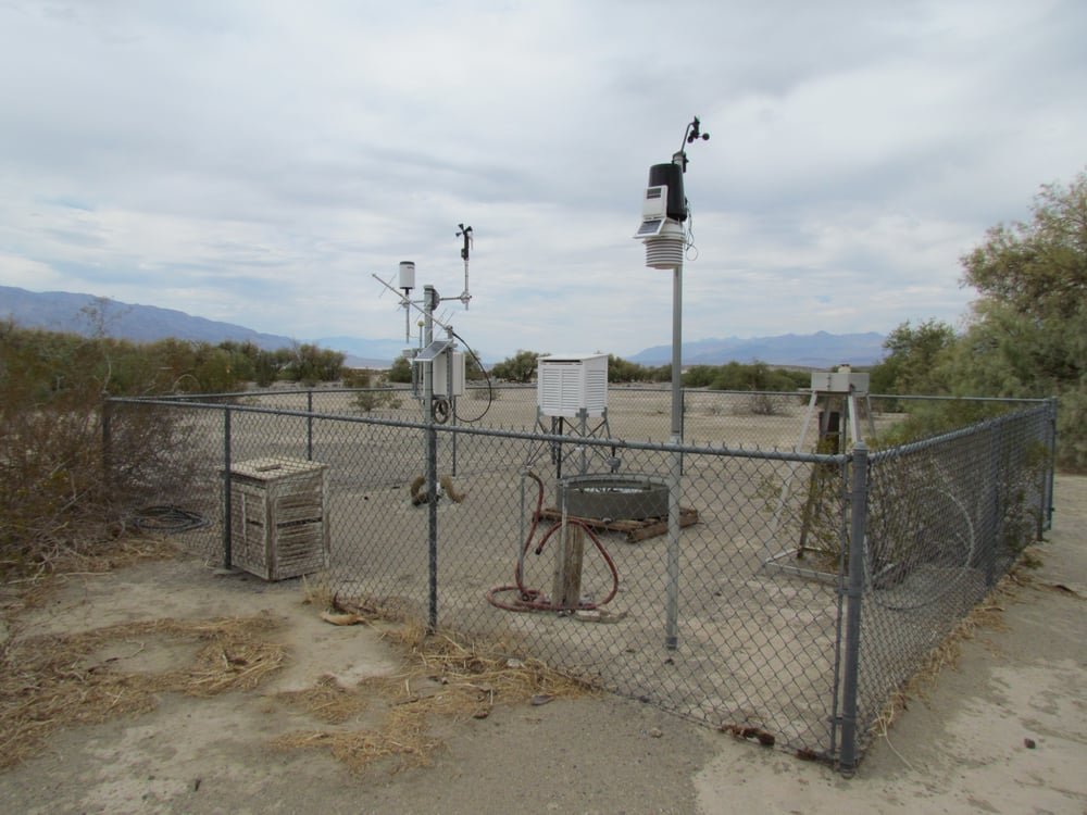 Photo of Furnace Creek Visitor Center - Death Valley, CA, United States. The weather station behind the Furnace Creek Visitor Center.