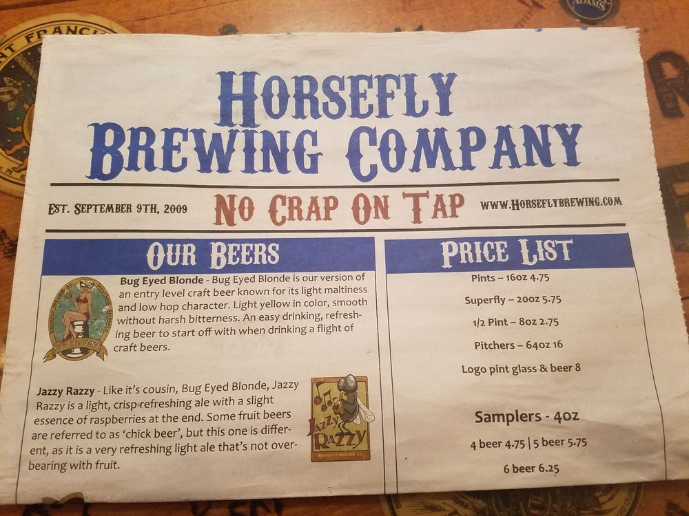 Montrose Colorado Craft Beer Brew Ale Horsefly Brewing Company Sticker