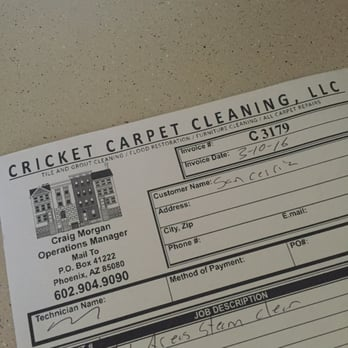 Cricket Carpet Cleaning 12 Reviews Carpet Cleaning 1208 E Grovers Ave Phoenix Az Phone Number Yelp