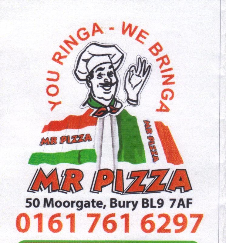 Mr Pizza Takeaway Fast Food 50 Moorgate Bury Bury