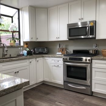 Kitchen cabinets installed by One Stop Construction ...
