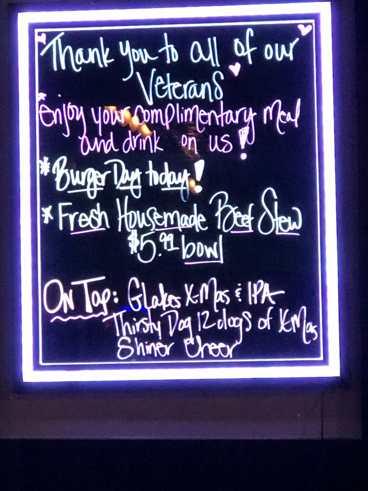 Lots Of Home Made Specials Every Day And Thanking Veterans On