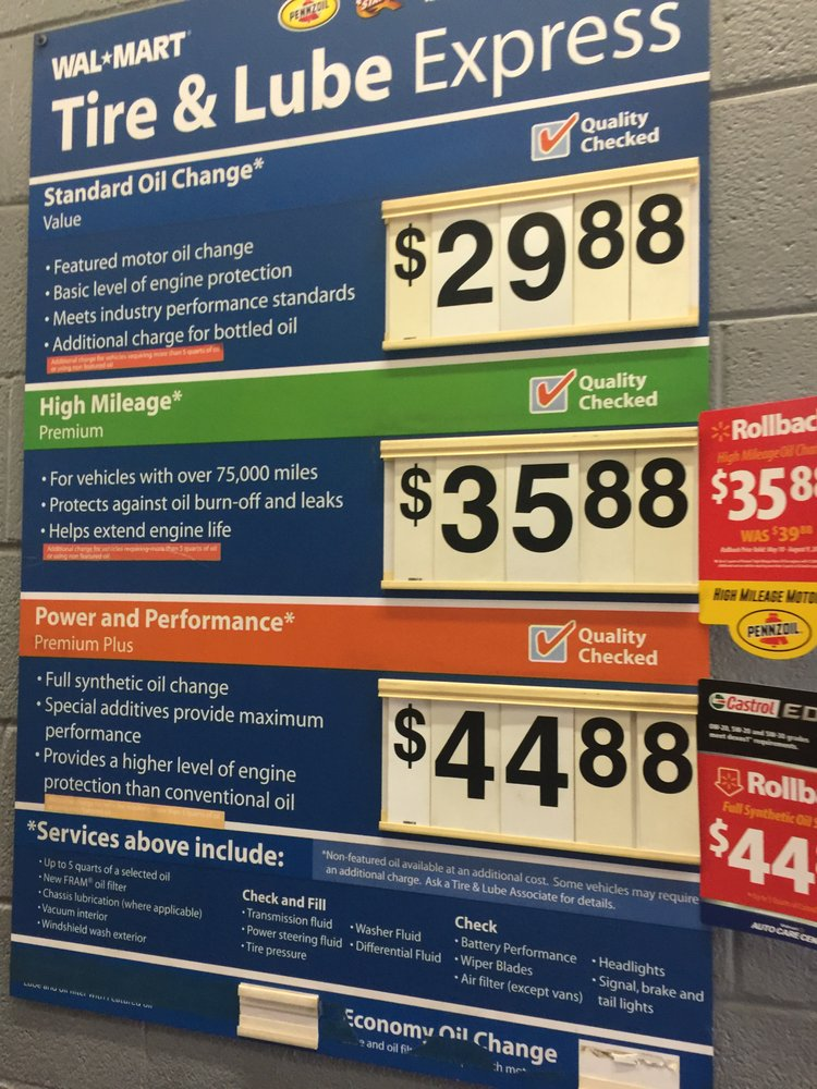 Walmart Oil Changes >> Walmart Auto Care Centers 13 Photos 60 Reviews Tires