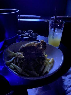 Photo of IPIC Theaters - Atlanta, GA, US. Chicken tenders and fries