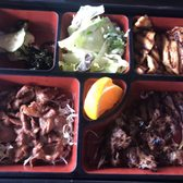Photo of Hanami Sushi - Sherman Oaks, CA, United States. Teriyaki chicken teriyaki beef and sour pork