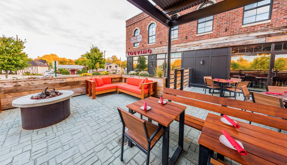 Louvino patio Louisville, Ky- Louisville, KY, United States - Louisville Rooftop Bars - heated patios in louisville, Louisville's Best Patios, Louisville Outdoor Dining During Covid, Outdoor Seating Restaurants in Louisville, Best patio Restaurants in Louisville, Best Restaurants in Louisville