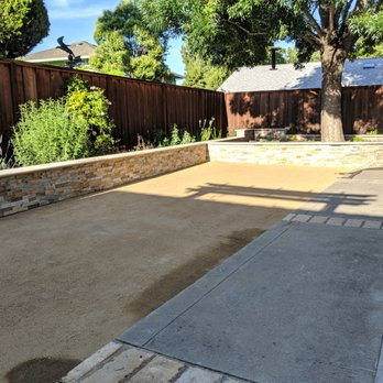 David S Landscaping Work Decomposed Granite And Drainage
