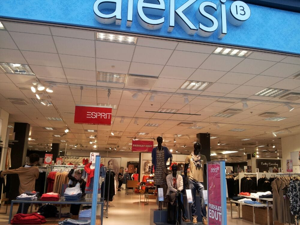 Aleksi 13 shopping centre address, phone number, and map