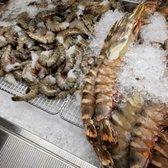 Photo of Hamido Seafood - Astoria, NY, United States. Shrimps and gigantic prawn