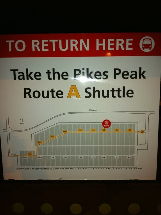 Pikes Peak Parking >> Pike S Peak Shuttle Parking 81 Reviews Parking 24300 E