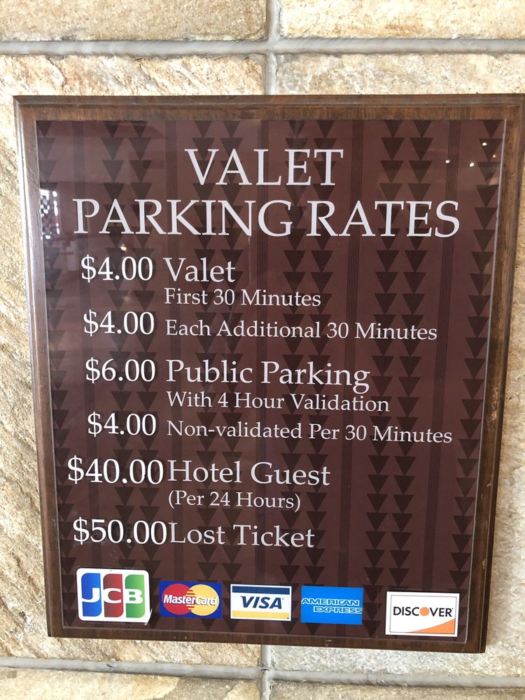 Valet Parking Rates Totally Worth It And Fair Compared With